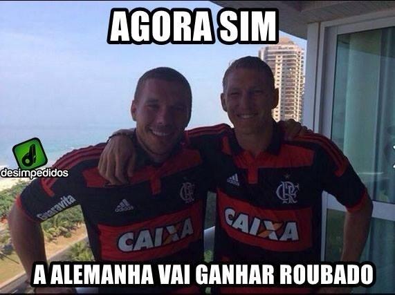 Alemães teriam segundas intenções ao vestir a camisa do Flamengo?