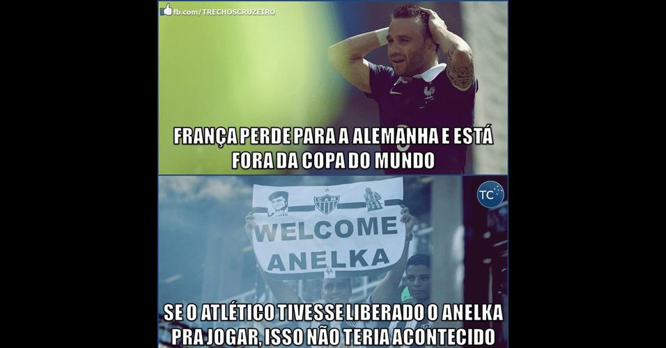 """""""Anelka é do Galo"""" ainda não foi esquecido pelos internautas, nem na Copa"""