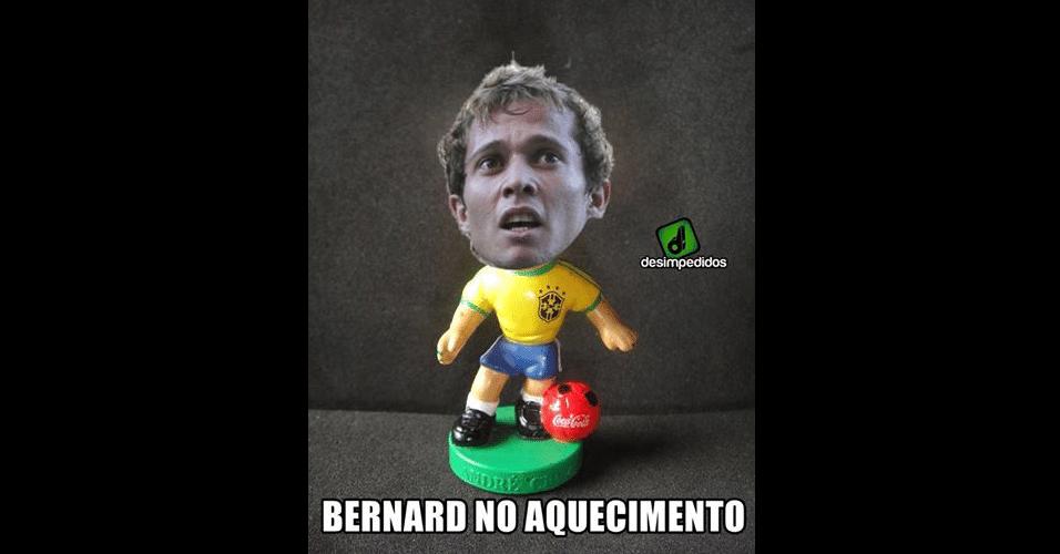 Bernard também foi vítima dos memes