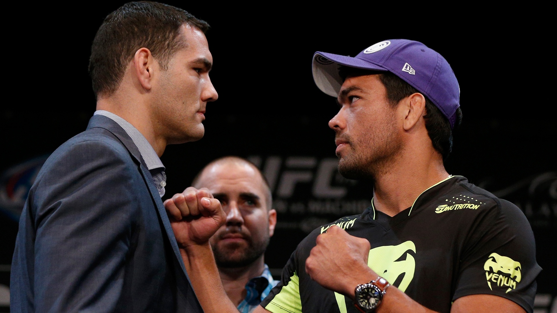 Chris Weidman e Lyoto Machida se encaram antes do UFC 175