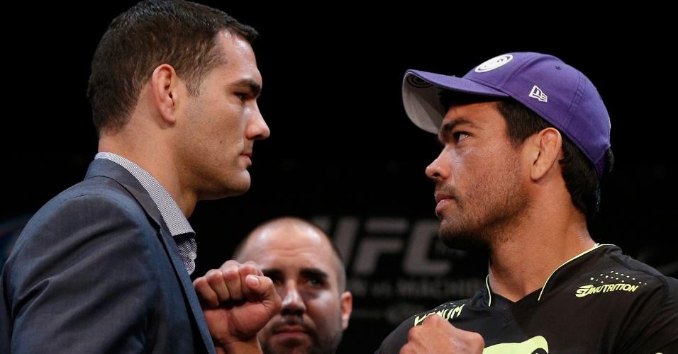 Chris Weidman e Lyoto Machida se encaram antes do UFC 175