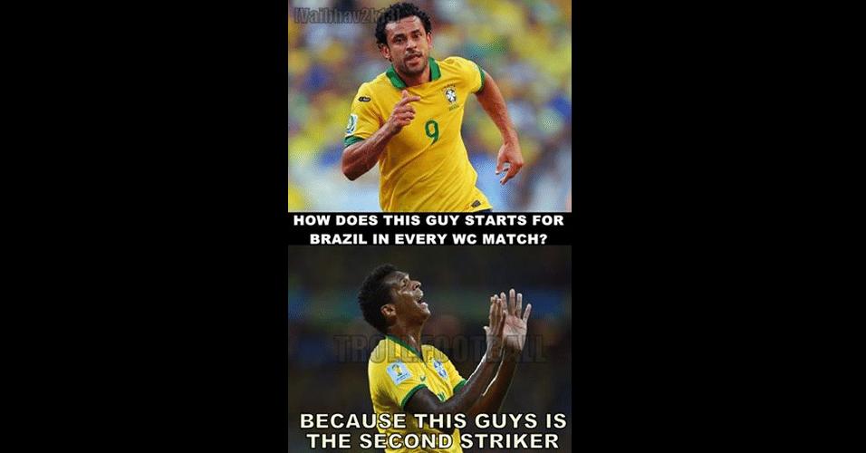 """""""Como esse cara é titular do Brasil em todos os jogos? É porque esse cara é o reserva"""". Jô é zoado pelos torcedores estrangeiros"""