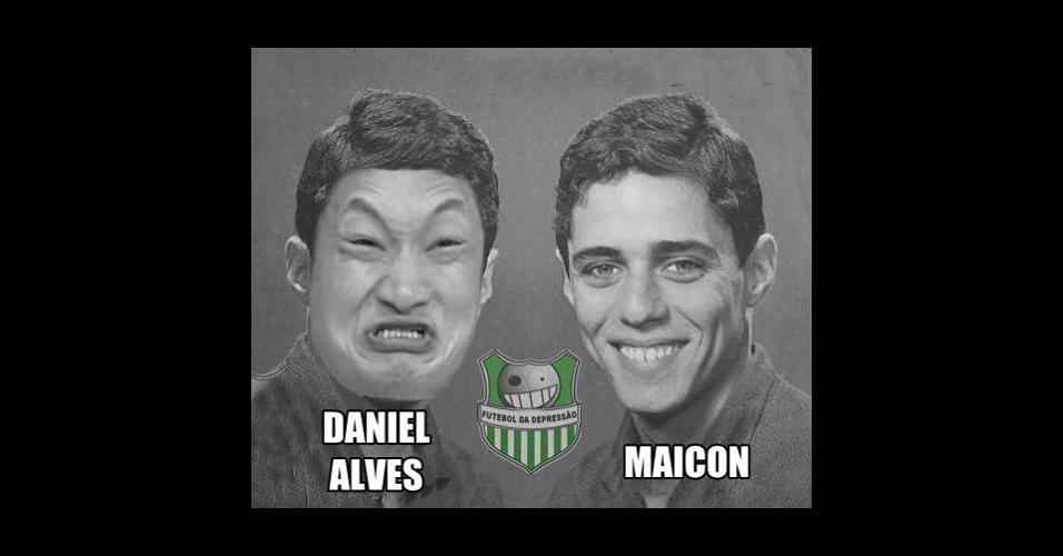 Daniel Alves também não escapou das zoeiras de hoje