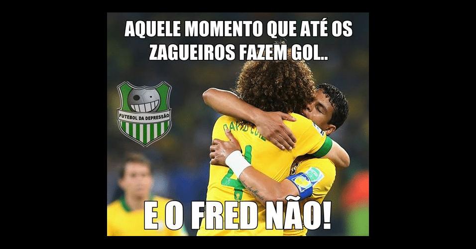 David Luiz já tem mais gols que Fred nesta Copa