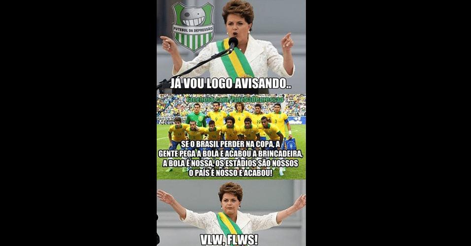 Dilma figurou nas zoeiras do dia