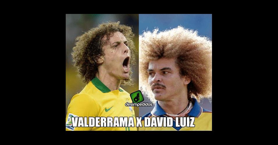Duelo de cabeleiras entre Brasil e Colômbia