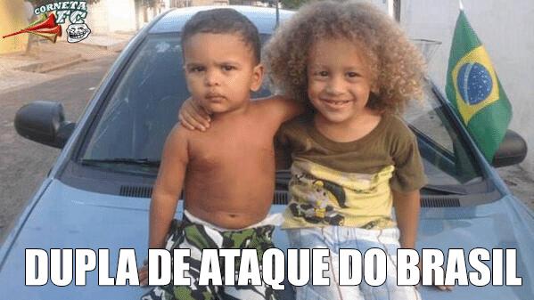 """""""Dupla de ataque"""" do Brasil mostra entrosamento desde a infância"""