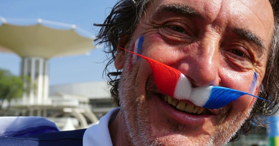 Franceses fazem festa no entorno do Maracanã antes de jogo contra a Alemanha