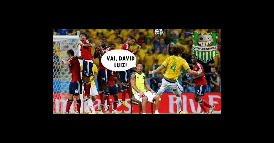 Fred deu grande apoio para David Luiz nesta partida