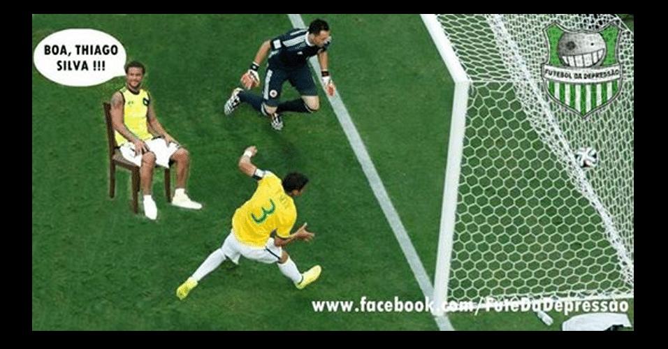 Fred esteve muito presente apoiando os ataques do Brasil
