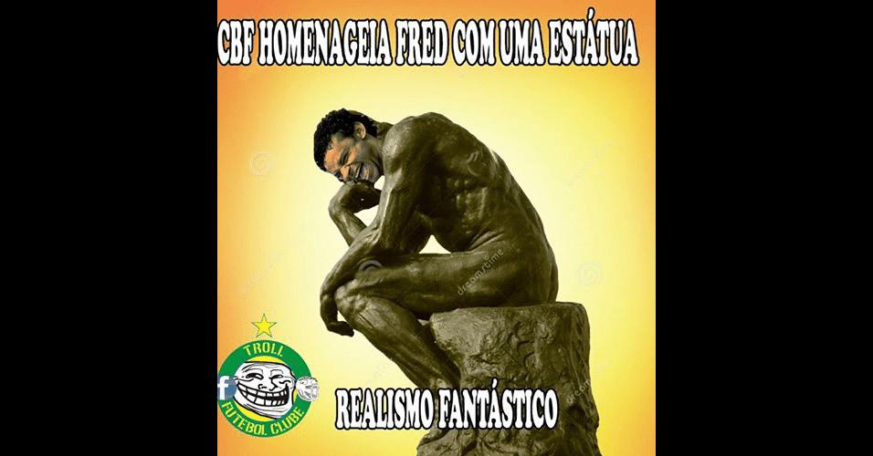 Fred virou estátua na internet