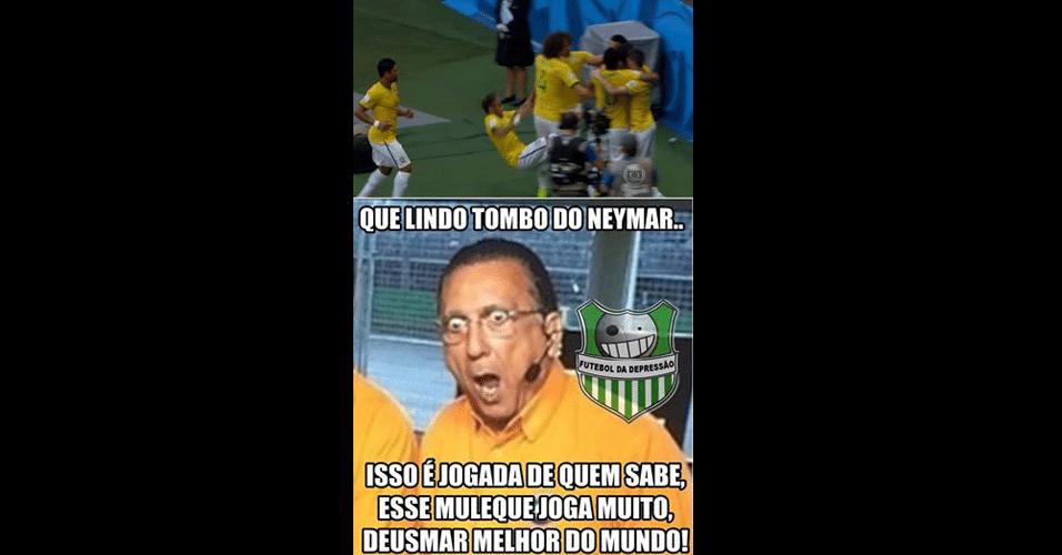 Galvão Bueno voltou a ser zoado na internet