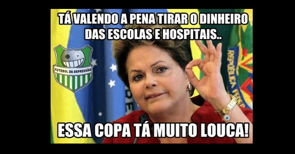 Internautas brincam até com Dilma
