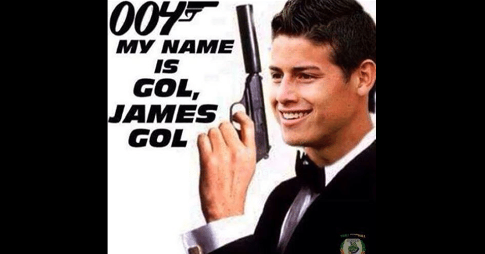 James Rodriguez virou James Bond