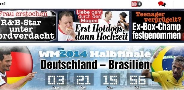 Bild, da Alemanha, começa a contagem regressiva para as semifinais da próxima terça