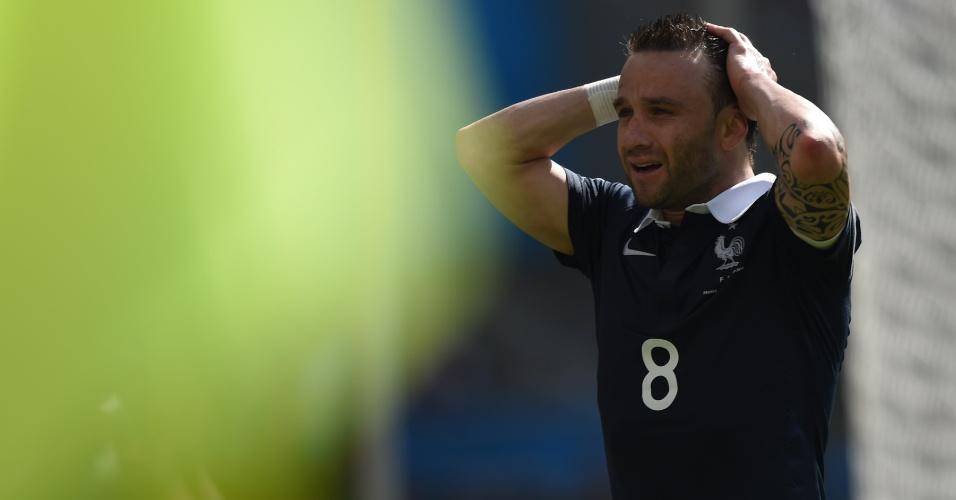 Mathieu Valbuena lamenta chance desperdiçada pela França na partida contra a Alemanha