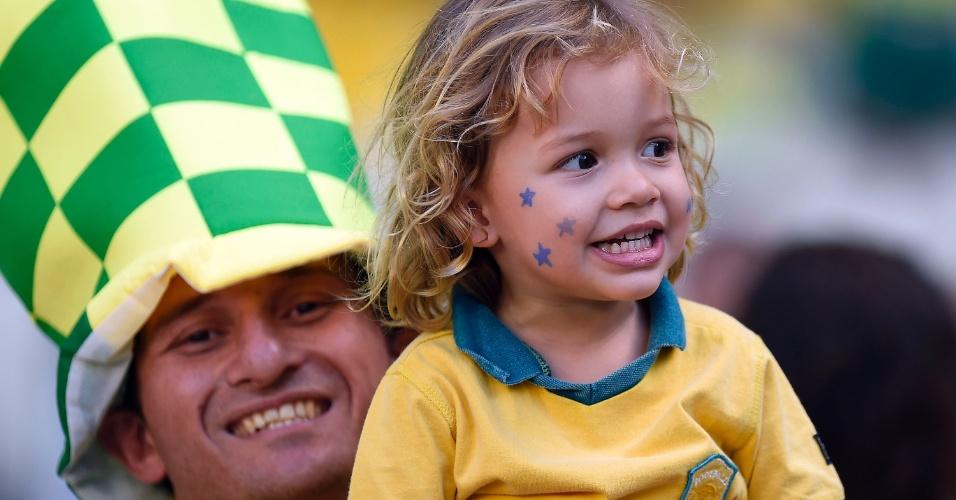 O Brasil também vai ter o apoio das crianças no Castelão, na partida contra a Colômbia pelas quartas de final