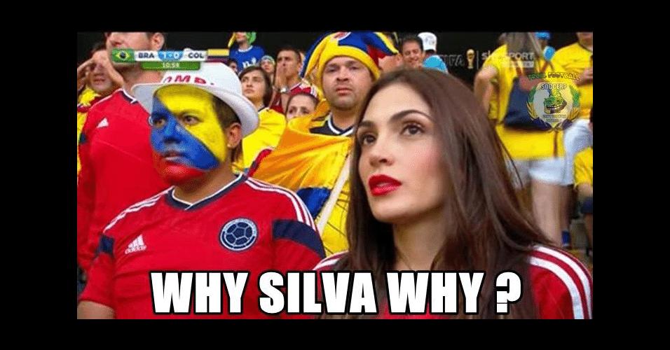 """""""Por que Silva, por quê?"""". Thiago Silva deixou colombianas tristes"""