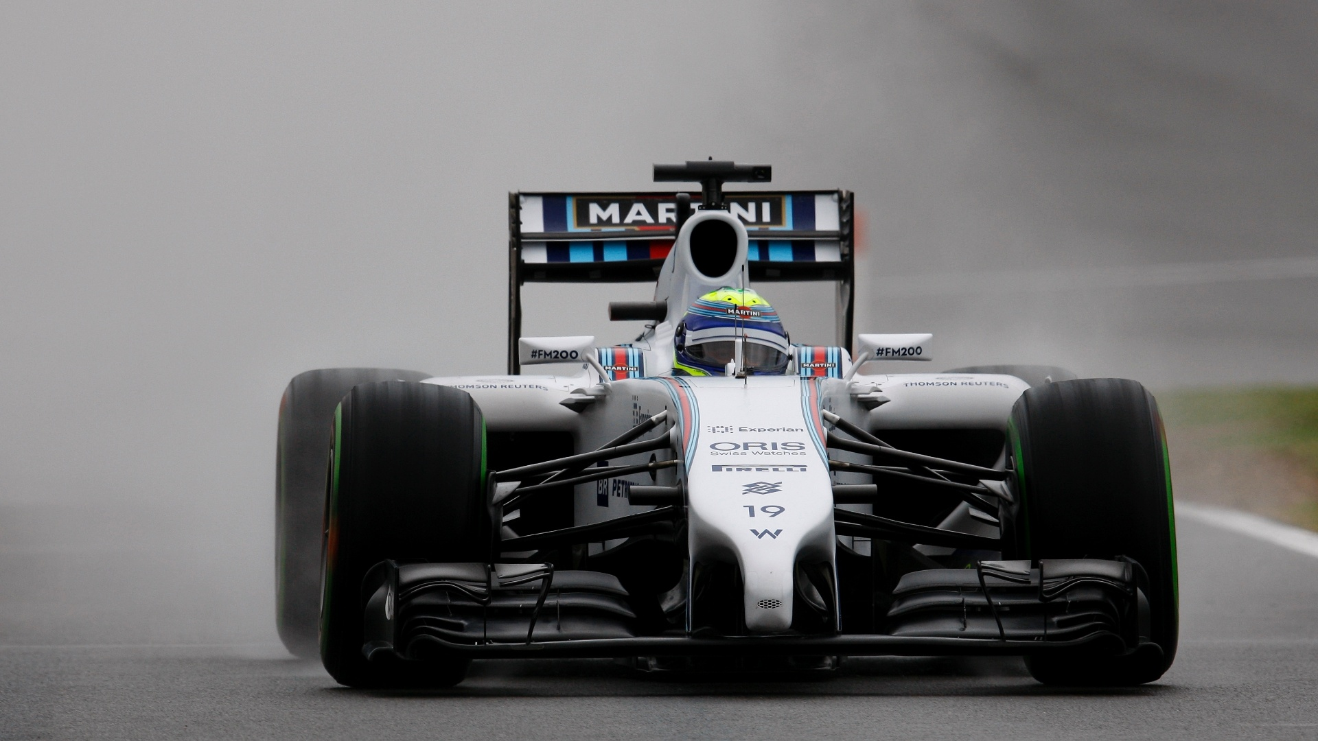 05.jul.2014 - Felipe Massa acelera sua Williams pelo circuito de Silverstone durante o treino de classificação do GP da Inglaterra