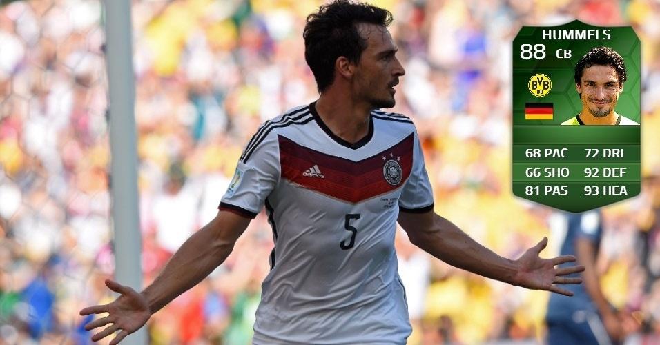 Alemanha 1 x 0 França: Hummells (85 para 88)