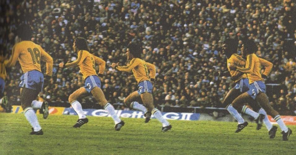 Antes da Copa de 1978, na Argentina, a seleção brasileira excursionou para a Europa para disputar três amistosos: perdeu para a França (1 a 0), empatou com a Inglaterra (1 a 1) e venceu a Alemanha (1 a 0). O gol foi marcado pelo atacante Nunes, que se contundiu durante um treinamento e ficou de fora do Mundial