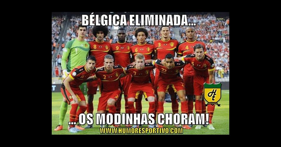 """Apontado por torcedores como o """"time modinha"""", Bélgica está fora da Copa"""