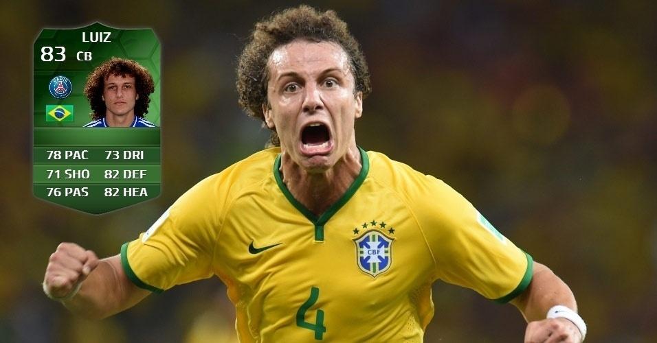 Brasil 2 x 1 Colômbia: David Luiz (82 para 83)