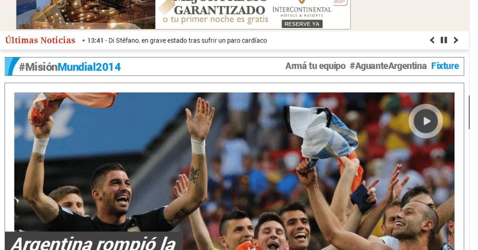 """Clarín: """"Argentina rompeu a maldição e está entre os quatro melhores do mundo"""""""