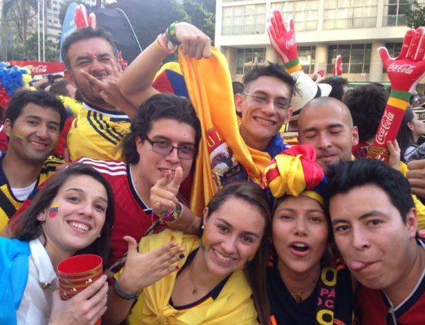 Colombianos foram bem recebidos na Fan Fest em São Paulo