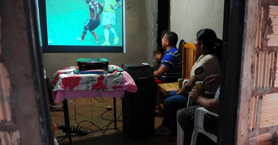 Copa do Mundo mexe com a comunidade indígena; Sassoró se pinta de verde e amarelo em parte de seus 700 alqueires
