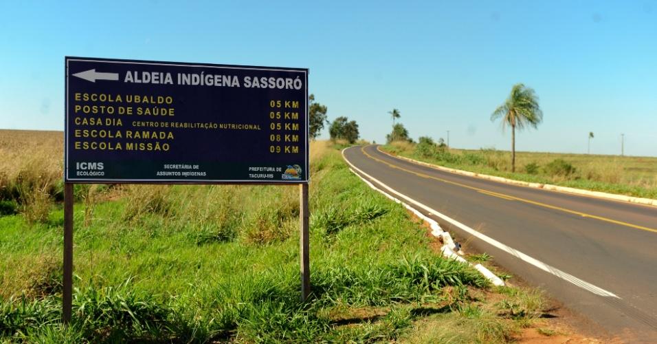 Aldeia indígena do Sassoró, no Mato Grosso do Sul, conta com população estimada de 4500 pessoas