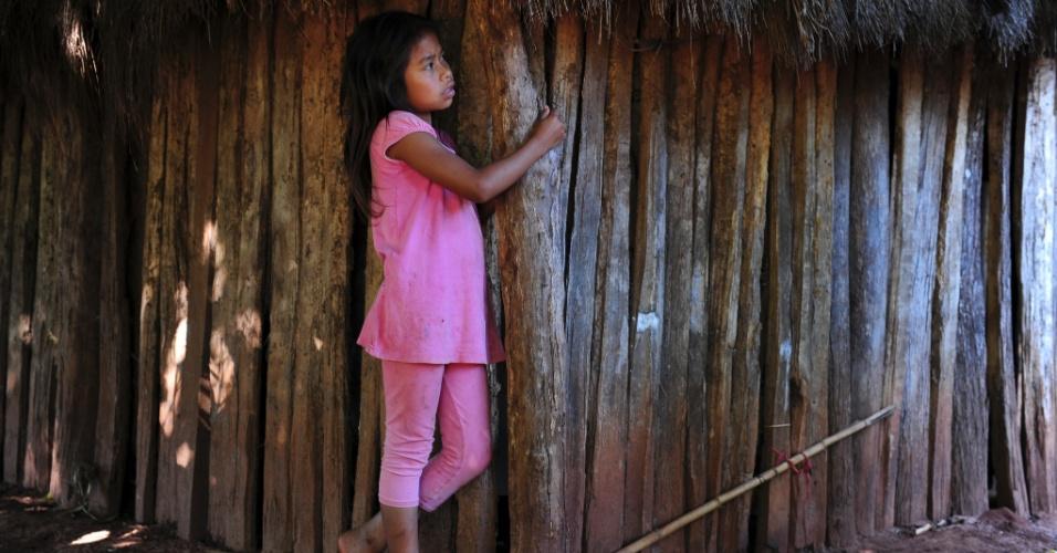 Aldeia na cidade de Tacuru tem três escolas municipais, com 1808 alunos matriculados ao todo