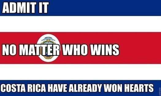 Costa Rica já ganhou os nossos corações, mesmo se perder o jogo