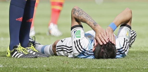 Di María se machucou no último sábado, durante a vitória da Argentina sobre a Bélgica