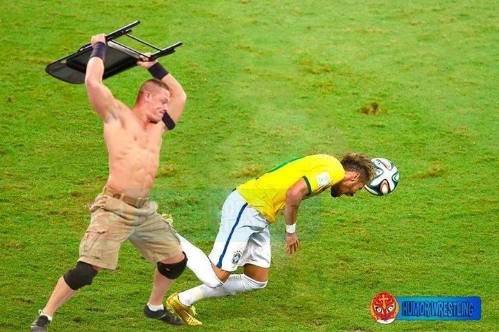 Entrada dura que tirou Neymar da Copa virou meme