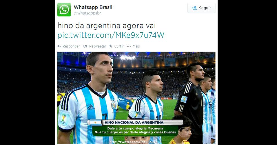 Hino argentino sofreu modificação