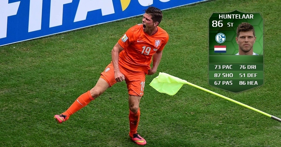 Holanda 2 x 1 México: Huntelaar (84 para 86)