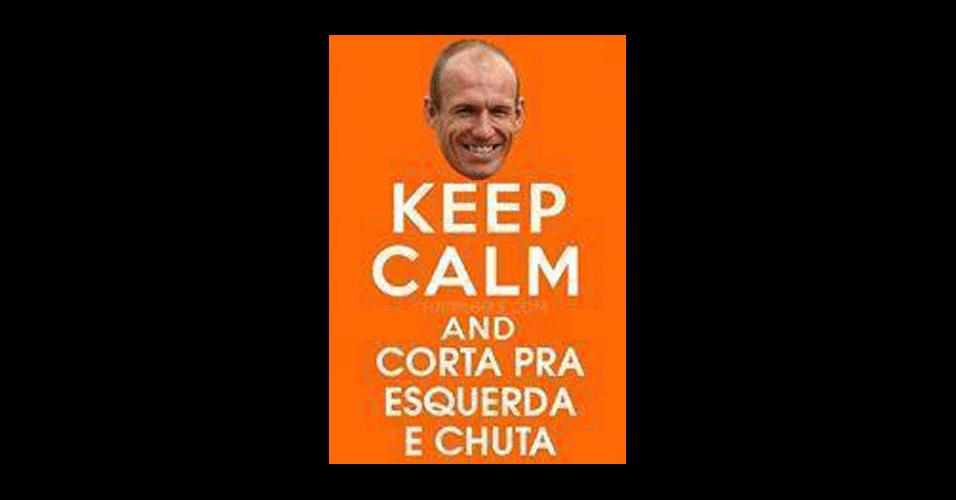 Jogada de Robben já é tão conhecida pelos internautas que virou meme