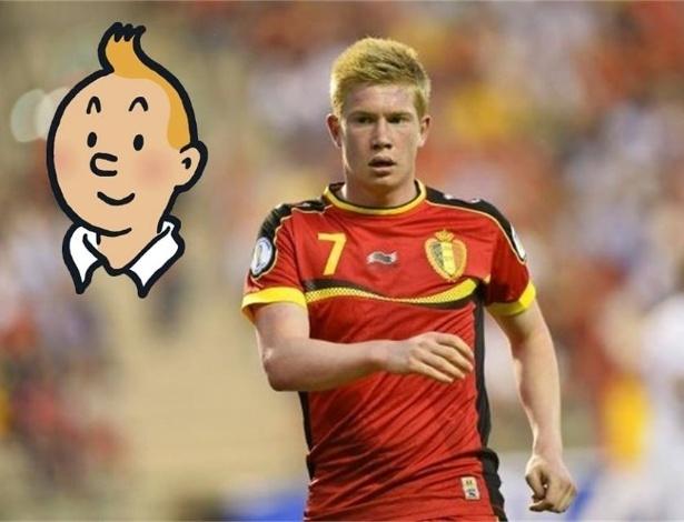 Jogador belga foi comparado com Tin Tin