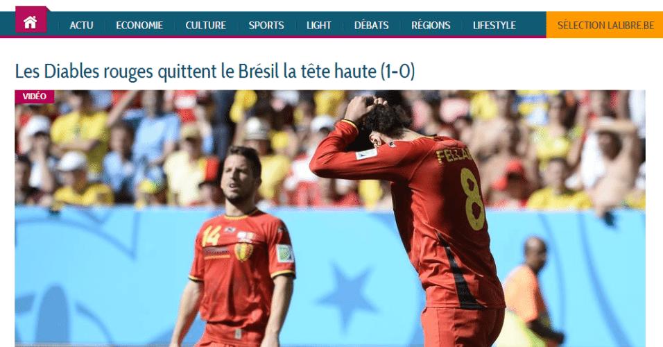 """La Libre: """"Os diabos vermelhos deixam o Brasil de cabeça erguida"""""""