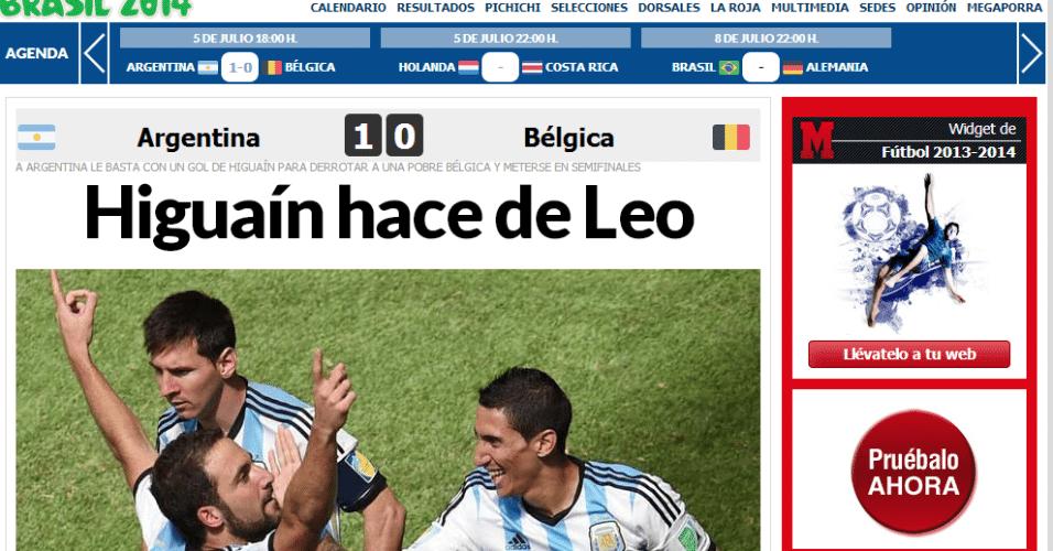 """Marca: """"Higuaín se faz de Leo"""""""