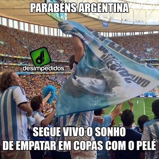 Mesmo se ganhar a Copa, Argentina terá apenas três conquistas, mesmo número de Pelé