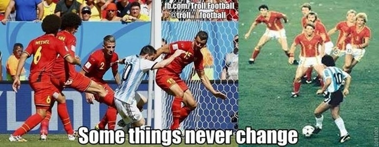 Messi 2014 e Maradona 1986: algumas coisas nunca mudam
