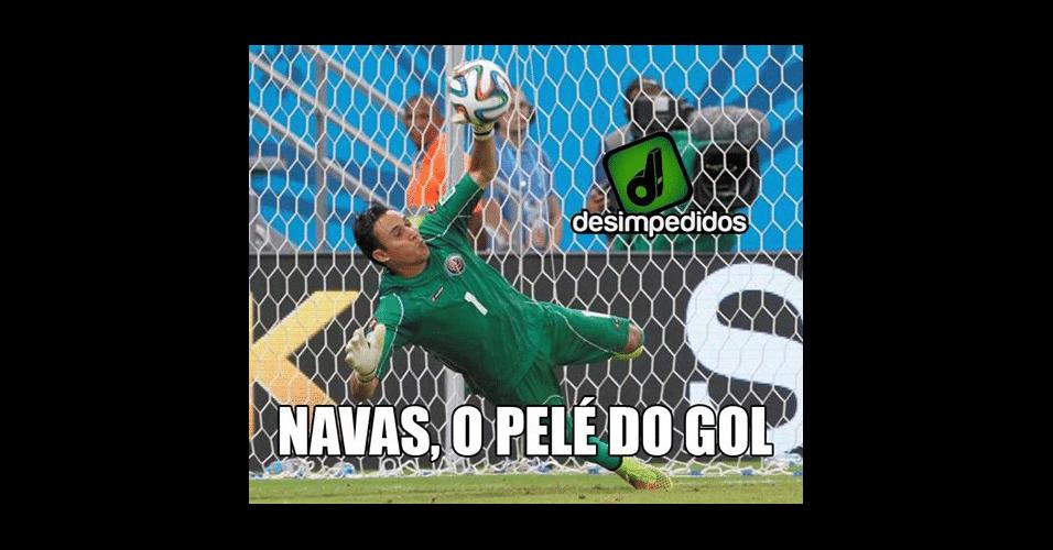 Navas fez boas defesas no jogo de Holanda e Costa Rica