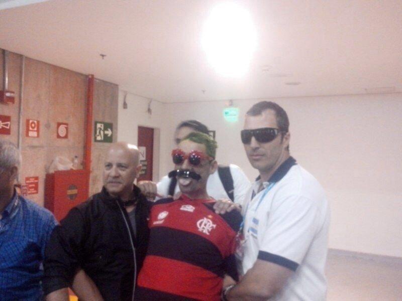 O 'barra brava' argentino Bebote estava disfarçado no estádio Mané Garrincha quando foi preso