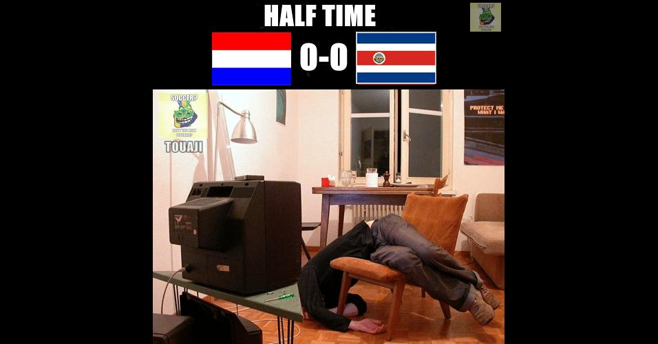 Primeiro tempo de Holanda e Costa Rica deu sono, de acordo com os internautas