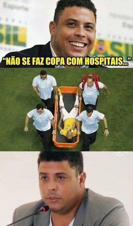 Ronaldo queima a língua ao dizer que não se faz Copa com hospitais