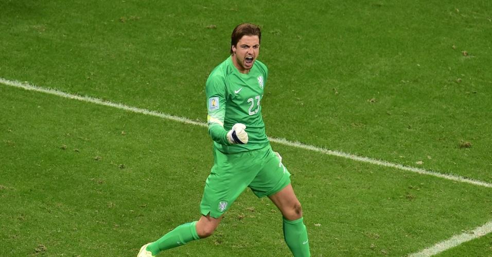 Holanda troca goleiro antes dos pênaltis 6d0a9375c6e0a