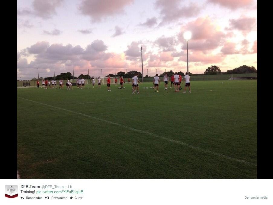 06.jul.2014 -  Seleção da Alemanha treina em sua concentração, na Vila de Santo André, na Bahia