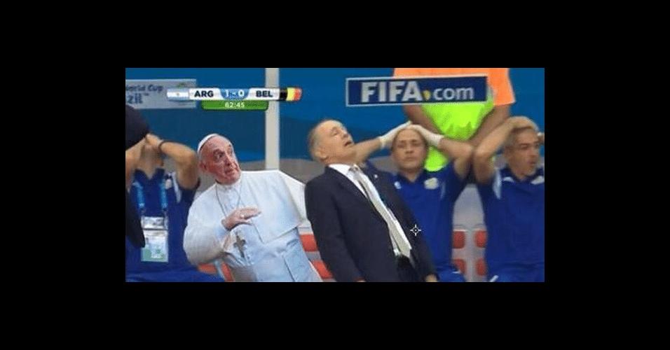 Até o Papa Francisco se assustou